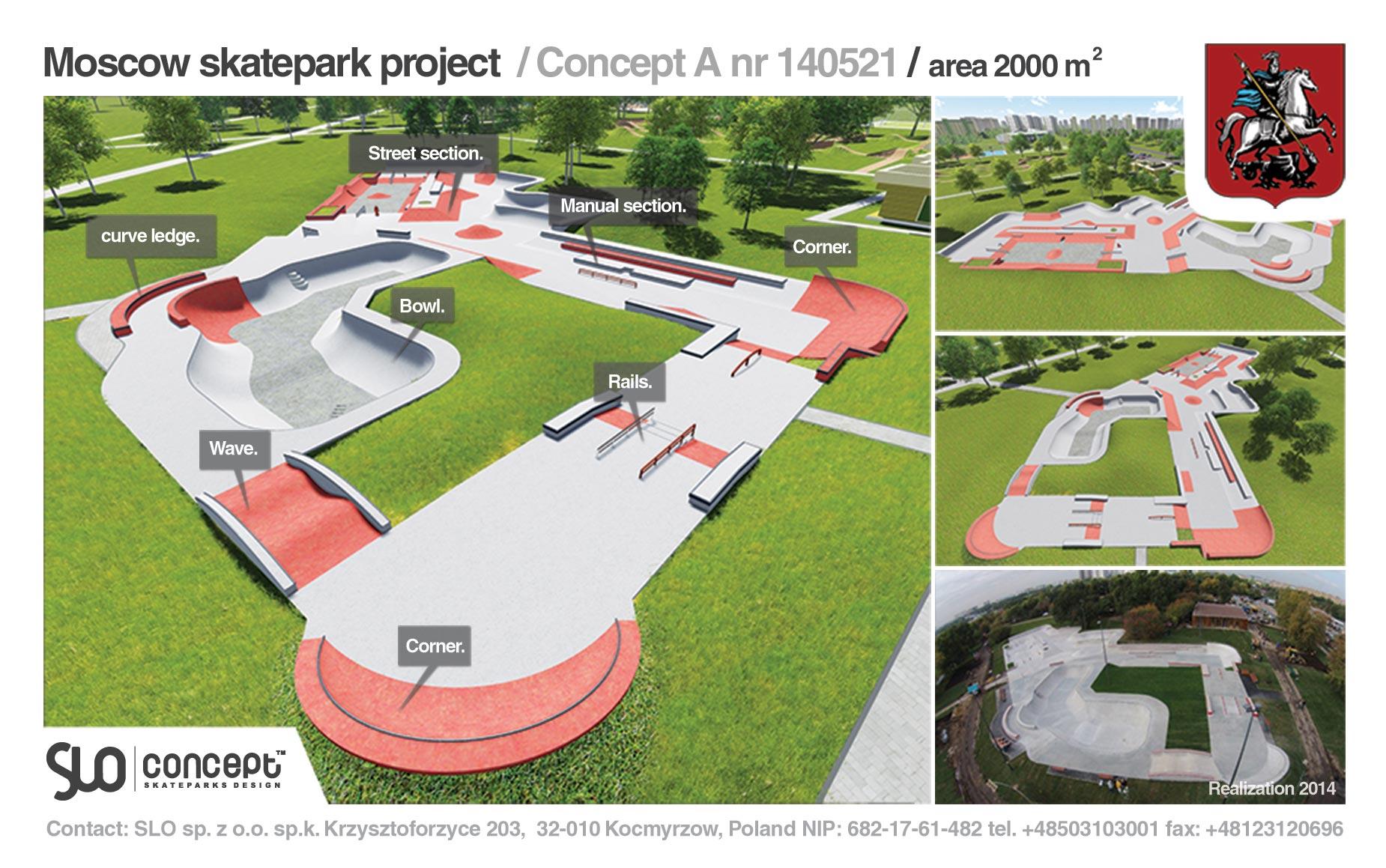 projekt skateparku moskwa