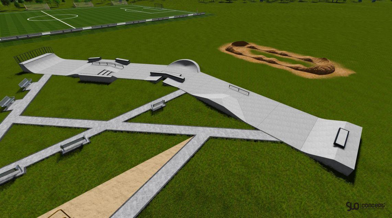 betonowy skatepark niemce