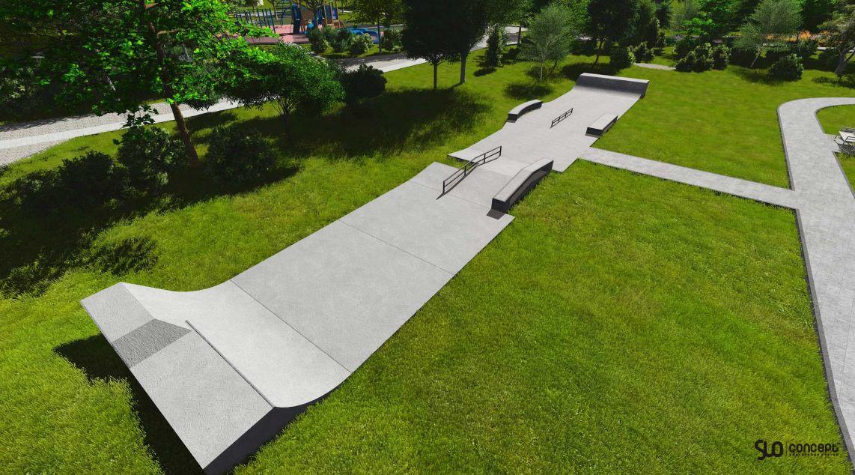 Betowy skatepark w Brodach
