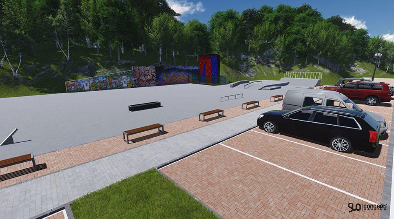 Concept skatepark in Limanowa
