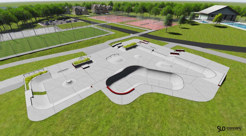 concept skatepark in Swarzedz
