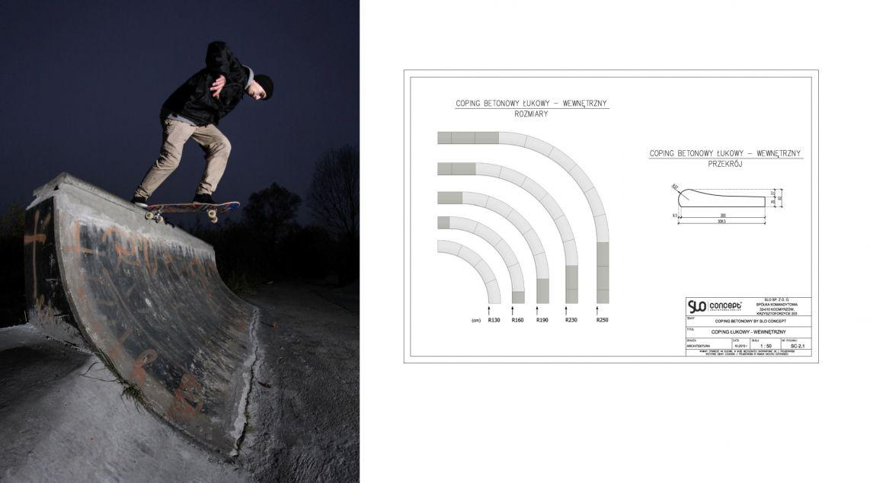 Coping Betonowy na skateparki - Rider: Kacper Miazga  Trick: bs tailslide