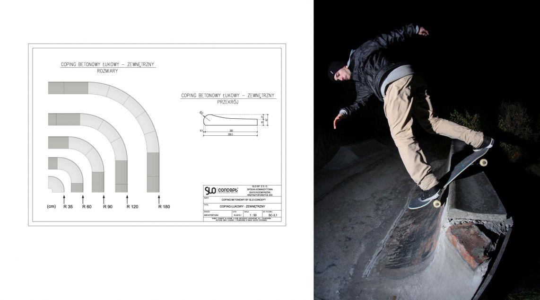 Coping Betonowy na skateparki - Rider: Kacper Miazga  Trick: bs lipslide
