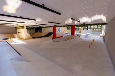 Innendørs skatepark i Warszawa - Woodpark