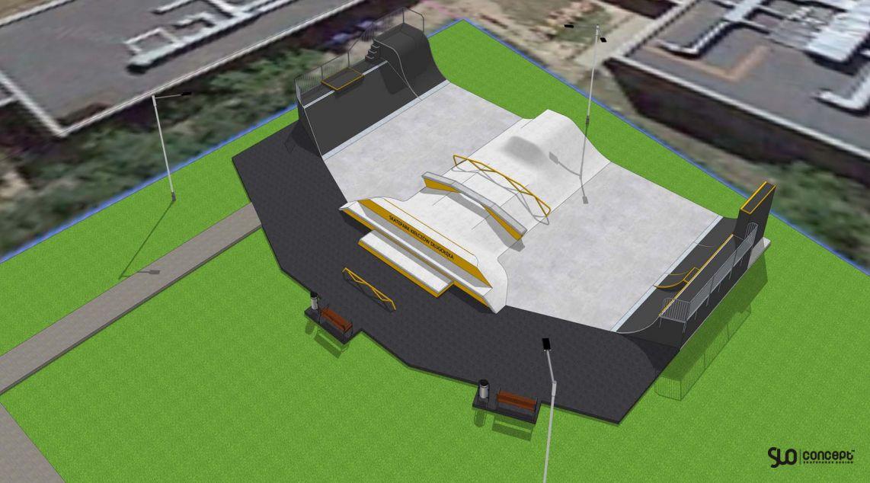 Kiełczów projekt skateparku
