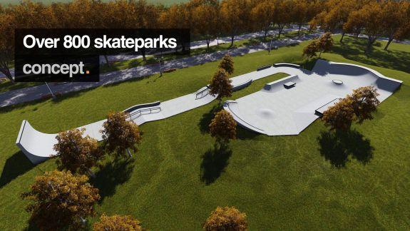 Over 800 skateparks concept