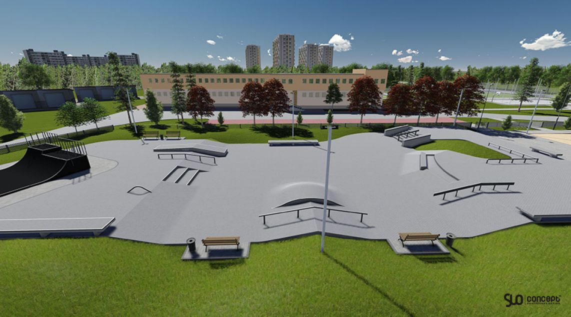 Project and concept skatepark in Bedzin