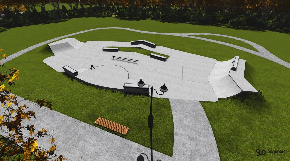 Project of a small skate park in Kołobrzeg