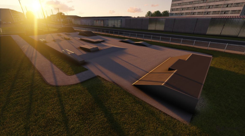 Project skatepark in Dabrowa Tarnowska