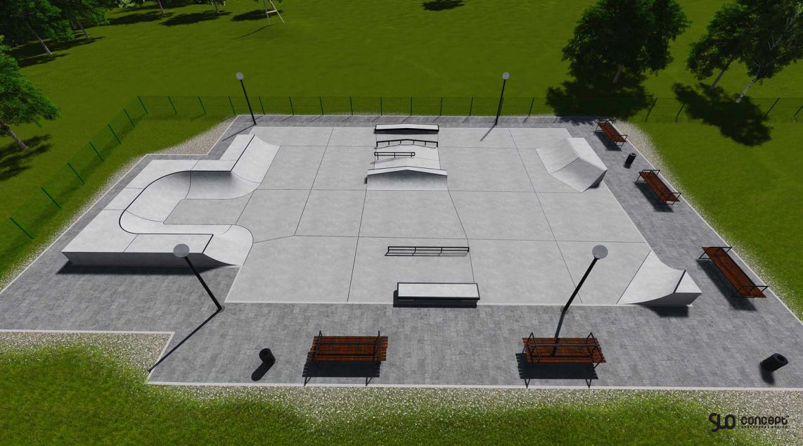 project skatepark's in Milowka