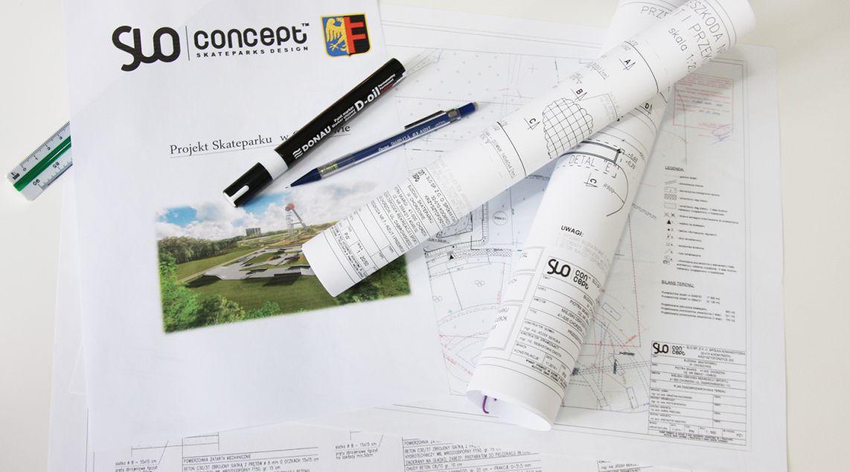 Projekt budowlany skateparku