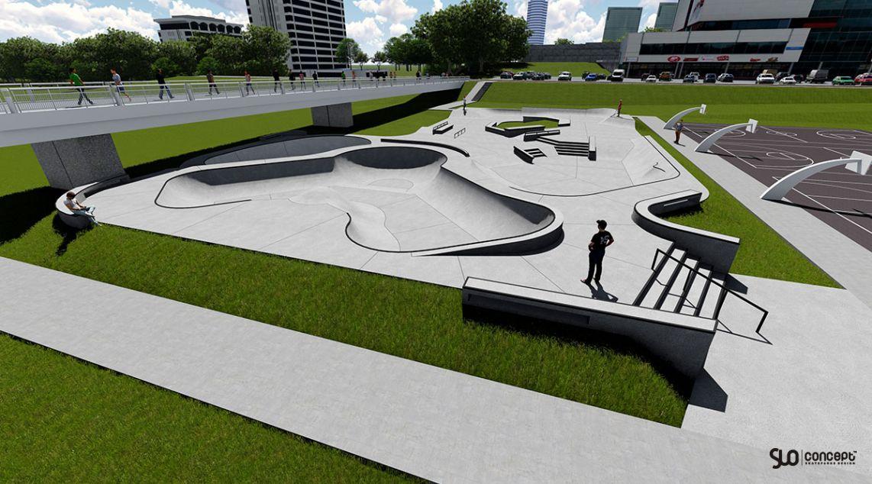 Projekt skateparku dla Wilna