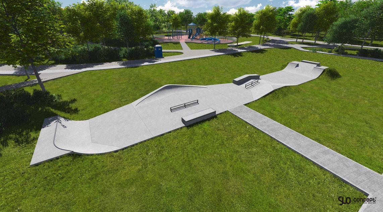 Projekt skateparku w Szamocinie