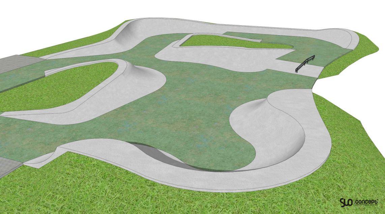 Skatepark betonowy - slo