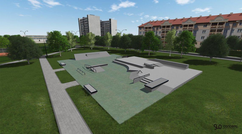 skatepark concept in Dzialdowo