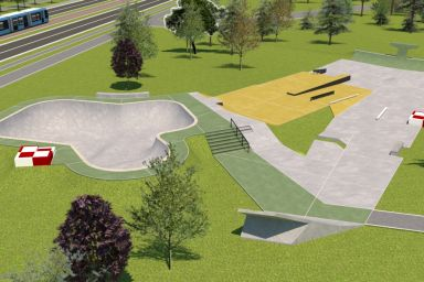Skatepark Kraków Park Lotników