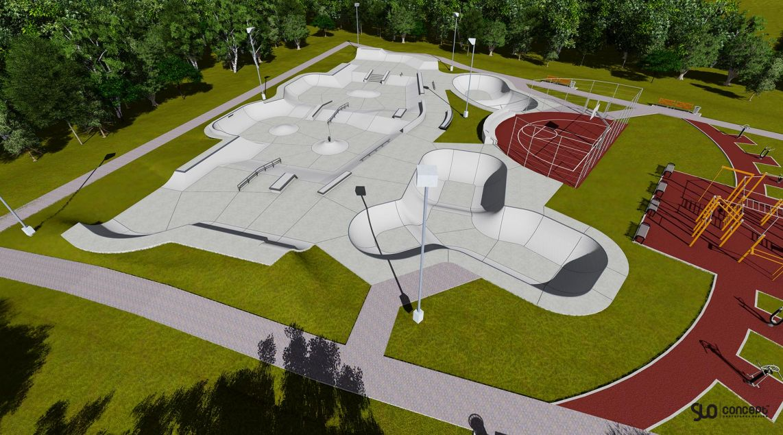 The concept of the skate park in Brumunddal