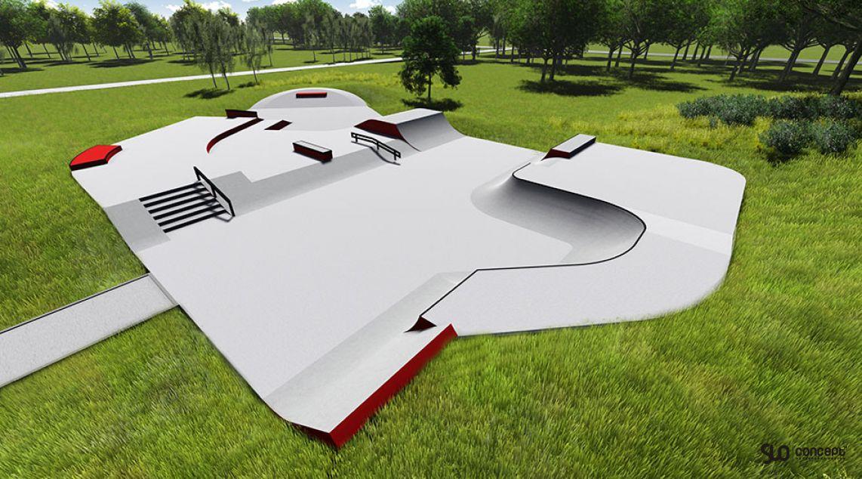 Visualization of the skate park in Trzebież