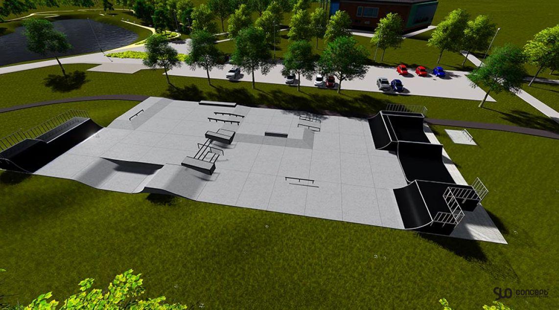 Visualization of the skatepark in Busko Zdroj