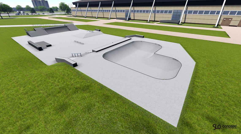 Visualization of the skatepark in Oswiecim