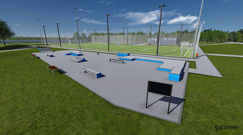 Visualization of the skatepark in Torzym