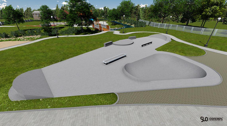 Visualization of the skatepark in Turosn Koscielna