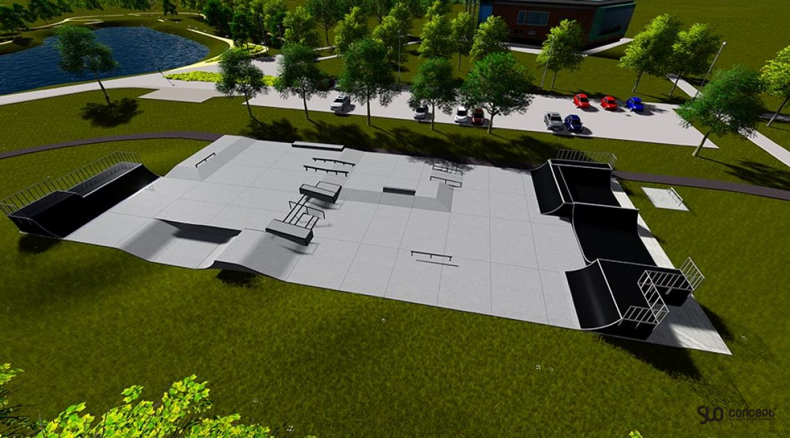 Visualization of the skatepark in Tychy