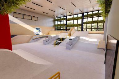 Крытый скейтпарк в Варшаве - Woodpark